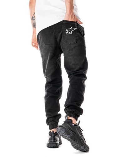 Spodnie Jeans Jogger 3maj Fason Star Wycierane Czarne