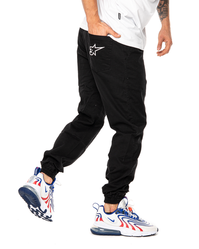 Spodnie Materiałowe Jogger 3maj Fason Star Czarne